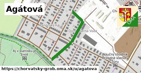 ilustrácia k Agátová, Chorvátsky Grob - 344m