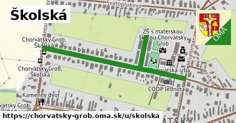 ilustrácia k Školská, Chorvátsky Grob - 576m