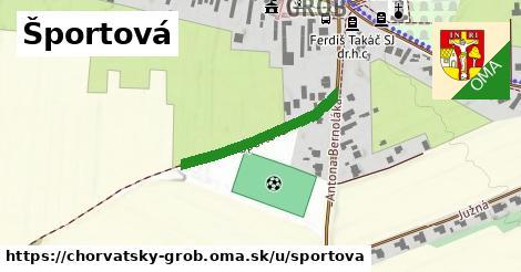 ilustrácia k Športová, Chorvátsky Grob - 249m