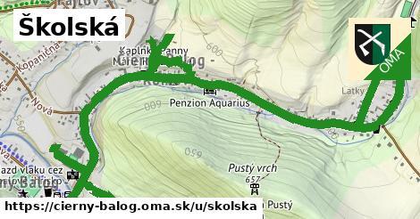 ilustrácia k Školská, Čierny Balog - 1,79km