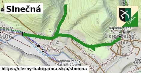 ilustrácia k Slnečná, Čierny Balog - 1,08km