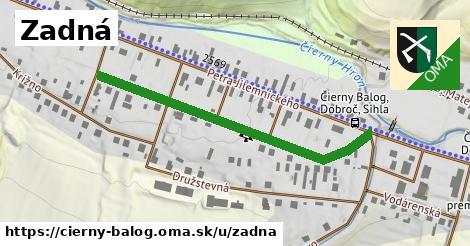 ilustrácia k Zadná, Čierny Balog - 467m
