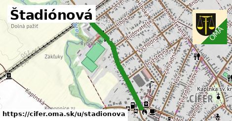 ilustrácia k Štadiónová, Cífer - 669m