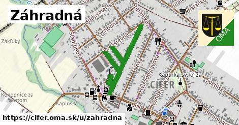 ilustrácia k Záhradná, Cífer - 484m
