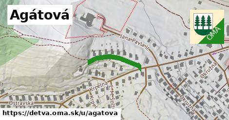ilustrácia k Agátová, Detva - 185m