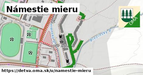 ilustrácia k Námestie Mieru, Detva - 565m