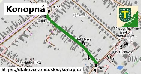 ilustrácia k Konopná, Diakovce - 398m
