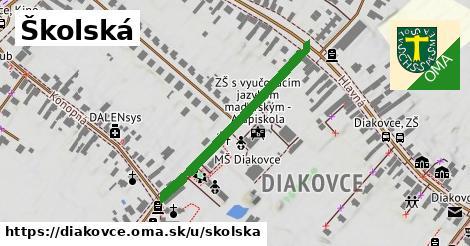 ilustrácia k Školská, Diakovce - 340m