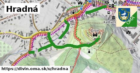 ilustrácia k Hradná, Divín - 634m