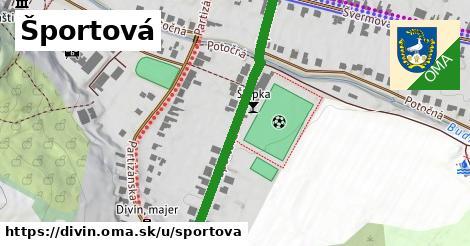 ilustrácia k Športová, Divín - 431m