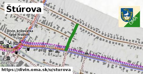 ilustrácia k Štúrova, Divín - 156m