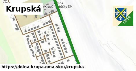 ilustrácia k Krupská, Dolná Krupá - 0,97km