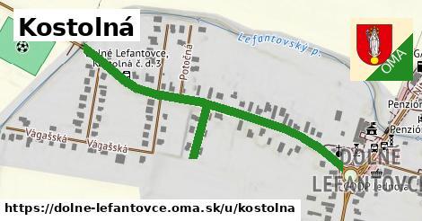 ilustrácia k Kostolná, Dolné Lefantovce - 615m