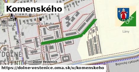 ilustračný obrázok k Komenského, Dolné Vestenice