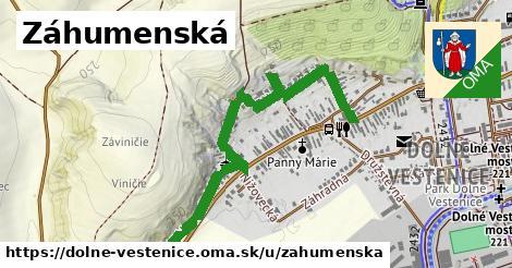 ilustrácia k Záhumenská, Dolné Vestenice - 1,13km