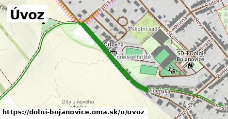 ilustrácia k Úvoz, Dolní Bojanovice - 309m