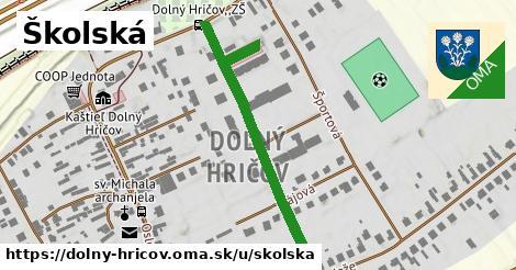 ilustrácia k Školská, Dolný Hričov - 459m