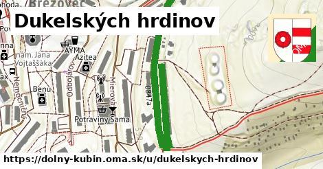 ilustrácia k Dukelských hrdinov, Dolný Kubín - 580m