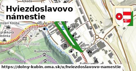ilustrácia k Hviezdoslavovo námestie, Dolný Kubín - 454m
