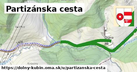 ilustrácia k Partizánska cesta, Dolný Kubín - 2,7km