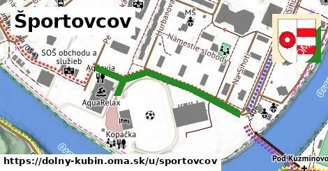 ilustrácia k Športovcov, Dolný Kubín - 411m