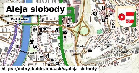 ilustrácia k Aleja slobody, Dolný Kubín - 2,3km