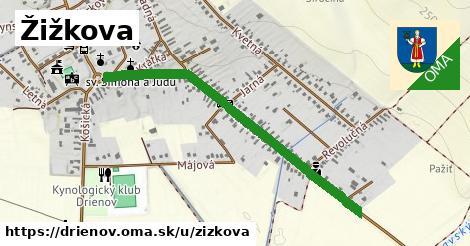 ilustrácia k Žižkova, Drienov - 0,97km