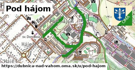 ilustrácia k Pod Hájom, Dubnica nad Váhom - 359m