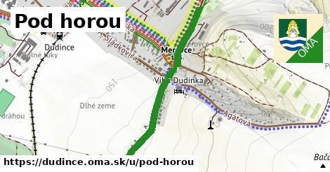 ilustrácia k Pod horou, Dudince - 0,79km