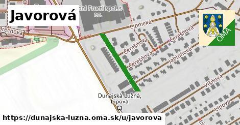 ilustrácia k Javorová, Dunajská Lužná - 250m