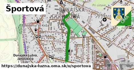 ilustrácia k Športová, Dunajská Lužná - 489m