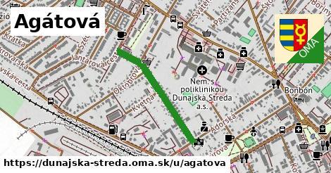 ilustrácia k Agátová, Dunajská Streda - 550m