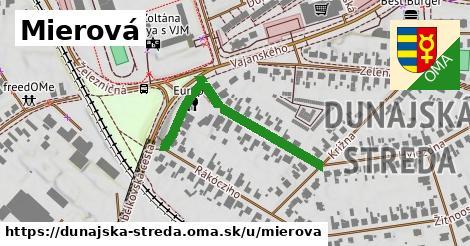 ilustračný obrázok k Mierová, Dunajská Streda