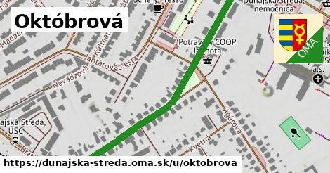 ilustrácia k Októbrová, Dunajská Streda - 646m