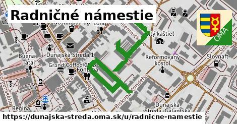 ilustrácia k Radničné námestie, Dunajská Streda - 614m