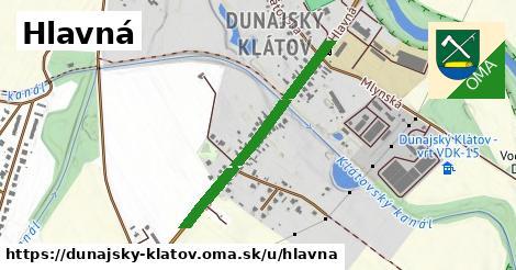 ilustrácia k Hlavná, Dunajský Klátov - 690m