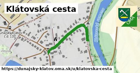 ilustračný obrázok k Klátovská cesta, Dunajský Klátov