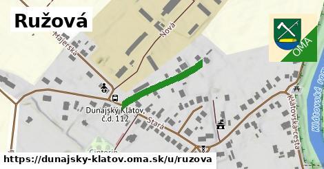 ilustrácia k Ružová, Dunajský Klátov - 208m