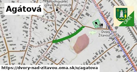 ilustrácia k Agátová, Dvory nad Žitavou - 190m