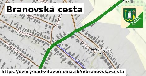 ilustrácia k Branovská cesta, Dvory nad Žitavou - 0,73km