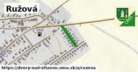 ilustrácia k Ružová, Dvory nad Žitavou - 142m