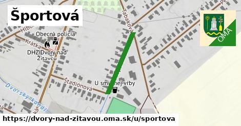 ilustrácia k Športová, Dvory nad Žitavou - 208m