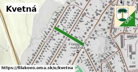 ilustrácia k Kvetná, Fiľakovo - 181m