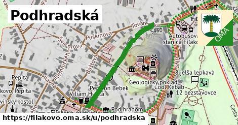 ilustračný obrázok k Podhradská, Fiľakovo