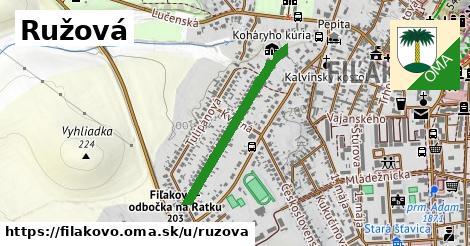 ilustračný obrázok k Ružová, Fiľakovo