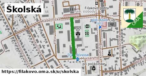 ilustrácia k Školská, Fiľakovo - 208m