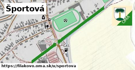 ilustrácia k Športová, Fiľakovo - 467m