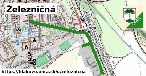 ilustračný obrázok k Železničná, Fiľakovo