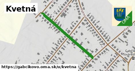 ilustrácia k Kvetná, Gabčíkovo - 298m