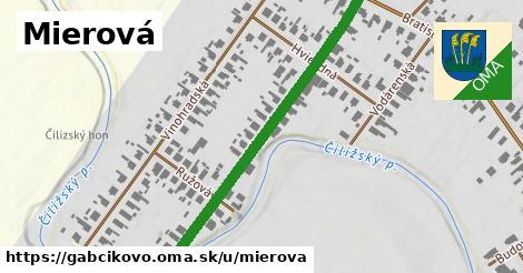 ilustračný obrázok k Mierová, Gabčíkovo